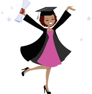13778408 - graduation girl cartoon